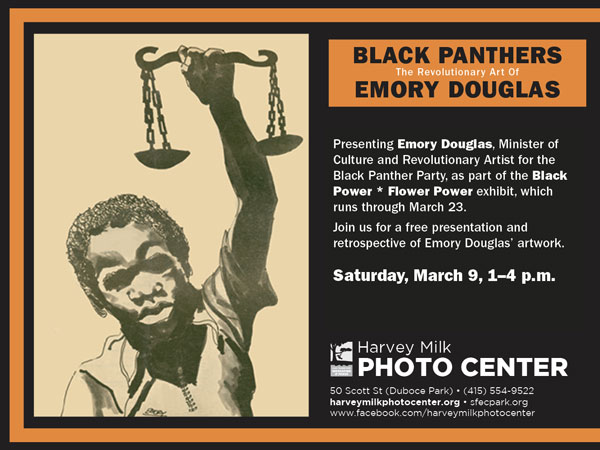 Free Artist's Talk: Black Panther Artist, Emory Douglas, March 9, 1–4 p.m.